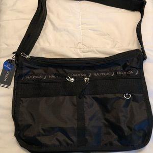 Black cross body black bag.